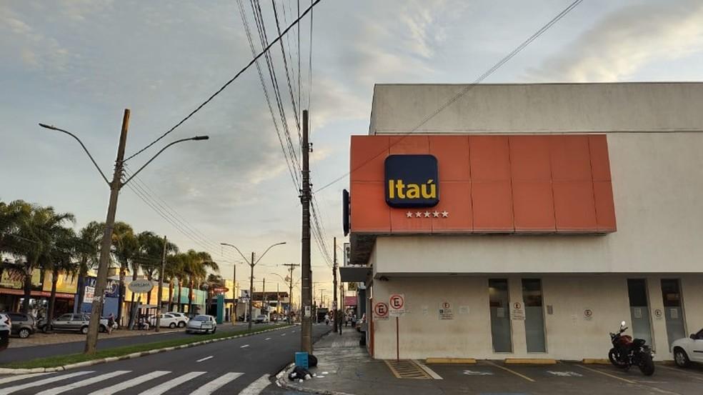 Agência do Banco Itaú em Araraquara — Foto: Amanda Rocha/ACidadeON Araraquara