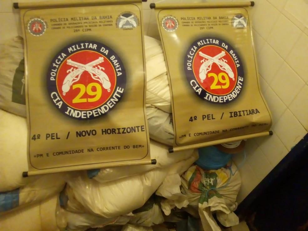 Cerca de 850 kg de explosivos são apreendidos em esconderijo na BA — Foto: Divulgação/SSP-BA