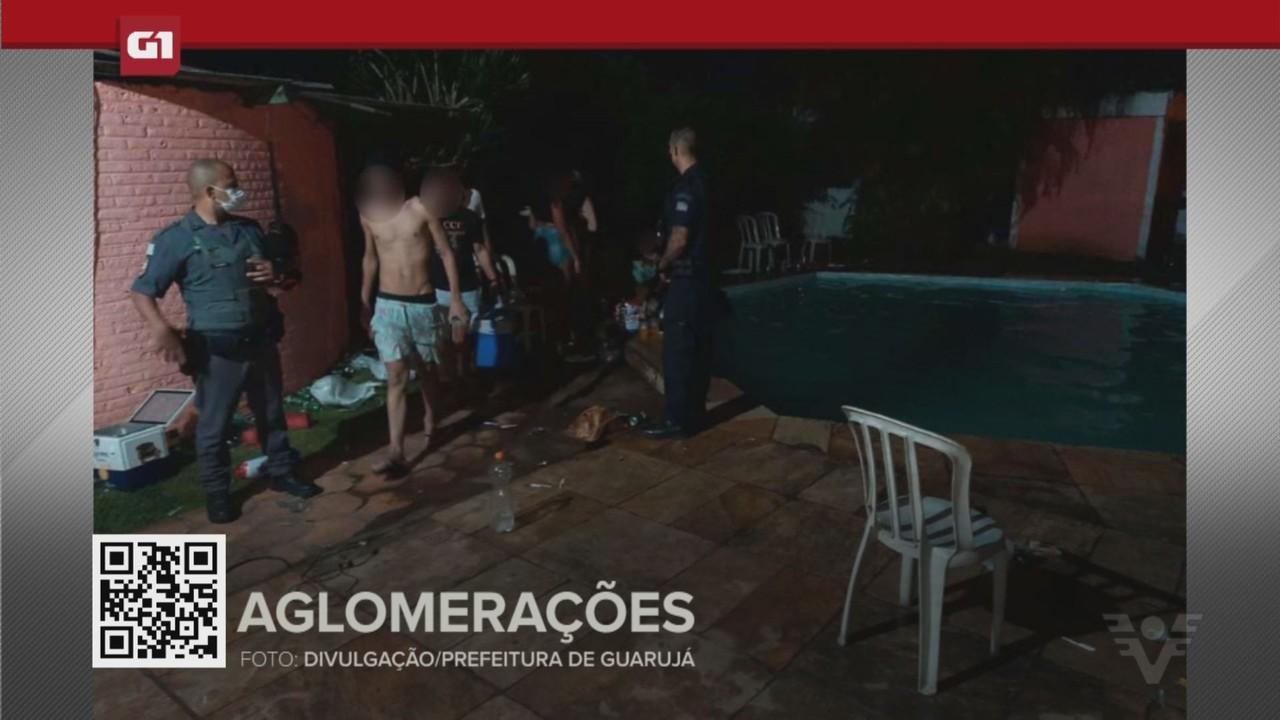 G1 em 1 Minuto - Santos: Baixada registra ocorrências de festas durante o lockdown
