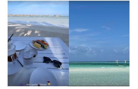 Sasha e João mostram café da manhã nas Maldivas Reprodução