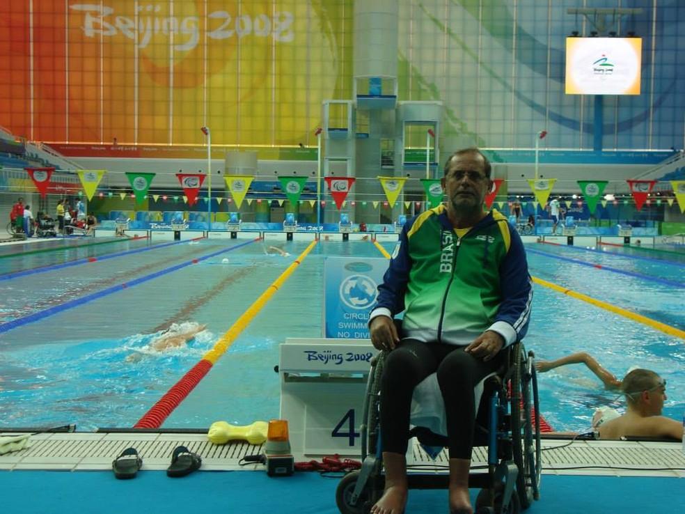 Adriano Galvão Pereira disputou Jogos Paralímpicos de Pequim 2008 (Foto: Arquivo pessoal)