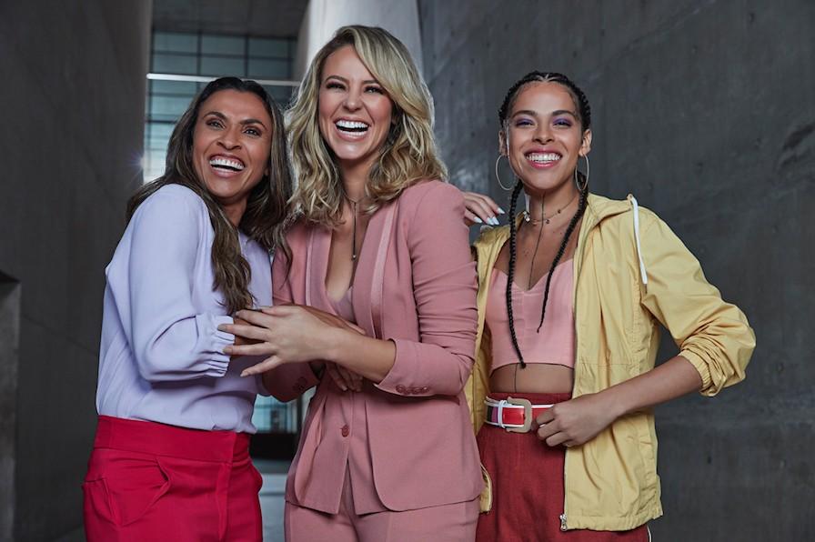 Marta, Paolla Oliveira e Rosa Luz na campanha da AVON  (Foto: Divulgação)