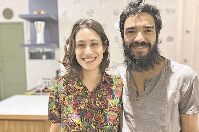 Luisa Arraes e Caio Blat (Foto: Bruno Prada)