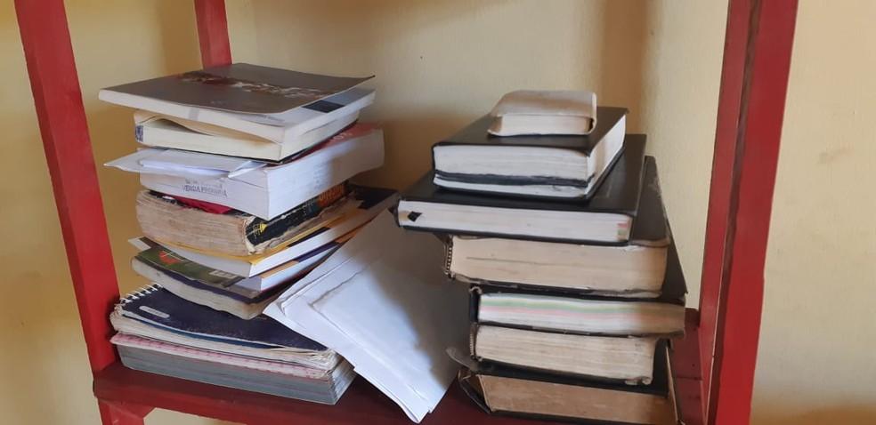 Verônica diz que os livros foram essênciais para garantir a adaptação no novo país — Foto: Cássia Firmino/G1