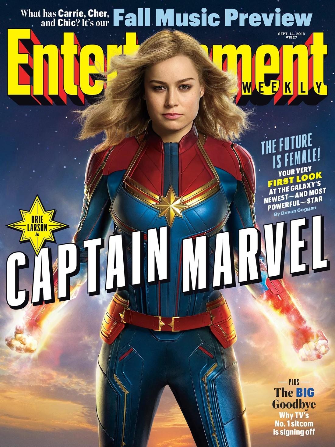 Capa da Entertainment Weekly revela a Capitã Marvel (Foto: Reprodução/EW)