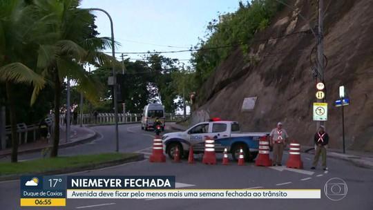Avenida Niemeyer vai ficar pelo menos mais uma semana fechada