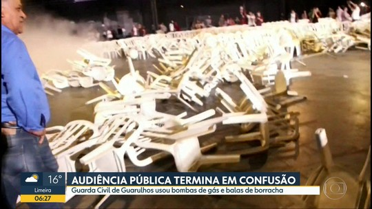 Audiência pública termina em confusão em Guarulhos