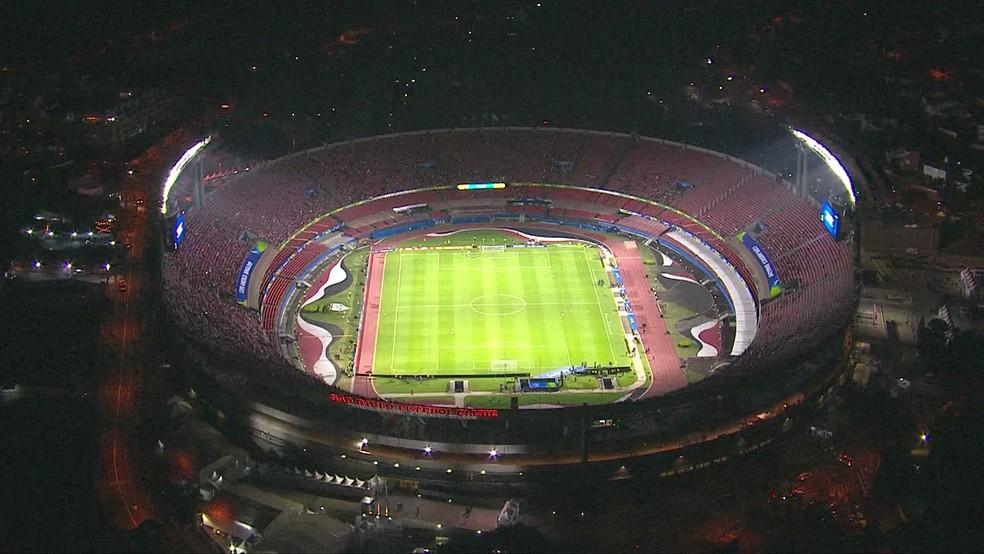 Estádio do Morumbi — Foto: TV Globo/Reprodução