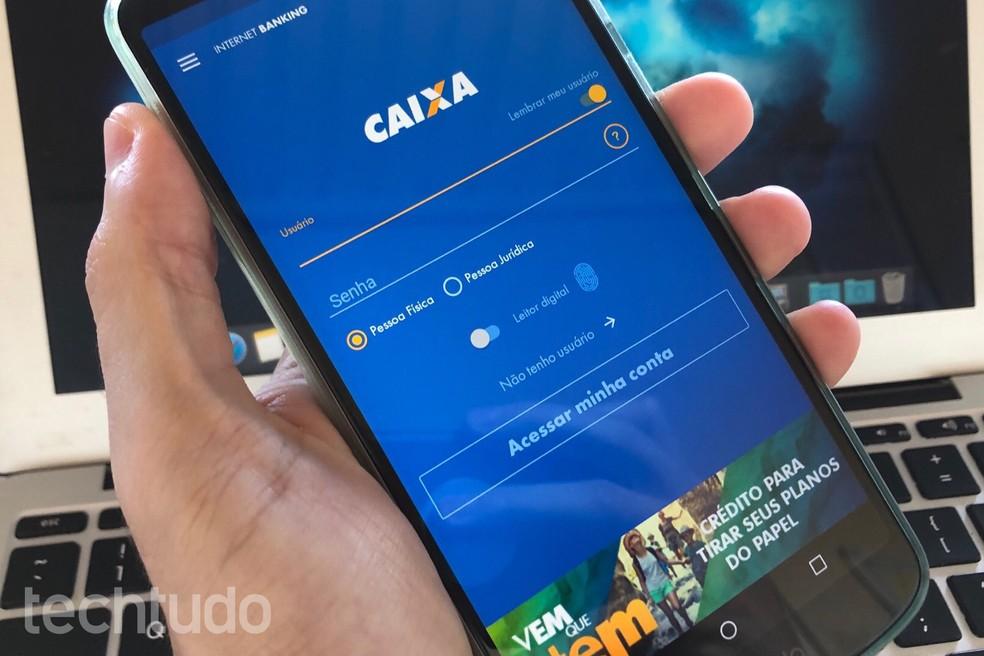 Aplicativo da Caixa fora do ar? Usuários relatam que app não abre — Foto: Helito Beggiora/TechTudo