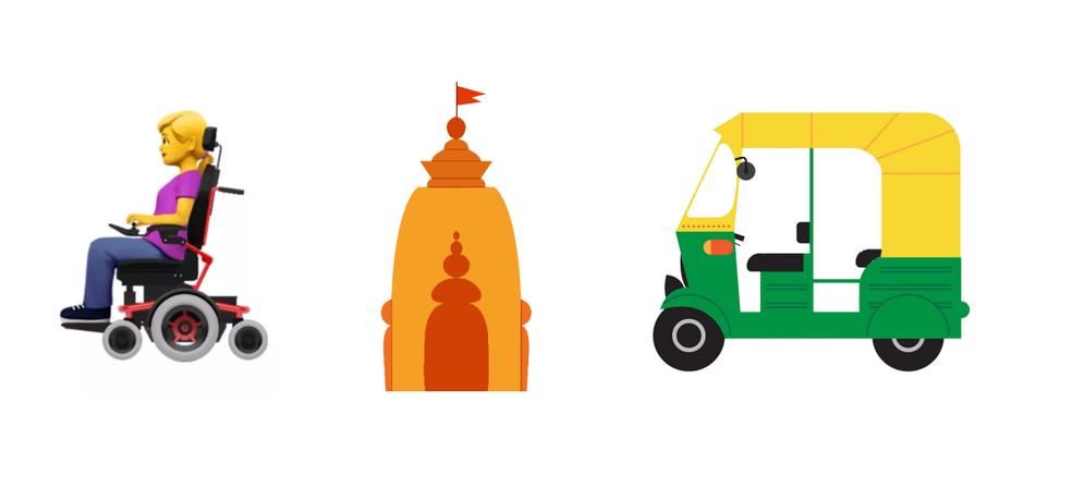 Cadeiras de rodas, templo hindu e Tuk Tuk podem entrar na categoria de transportes e lugares (Foto: Divulgação/Unicode)