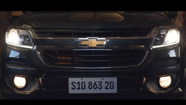 Propaganda da Chevrolet S10, compartilhada pelo ministro Ricardo Salles (Foto: Divulgação)