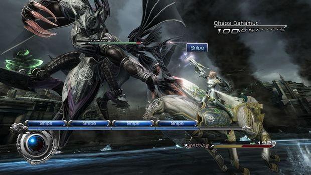 Final Fantasy XIII-2 mostra imagens de Lightning contra