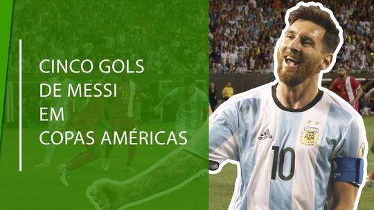 Aniversariante do dia:  veja top 5 gols de Messi em Copas Américas