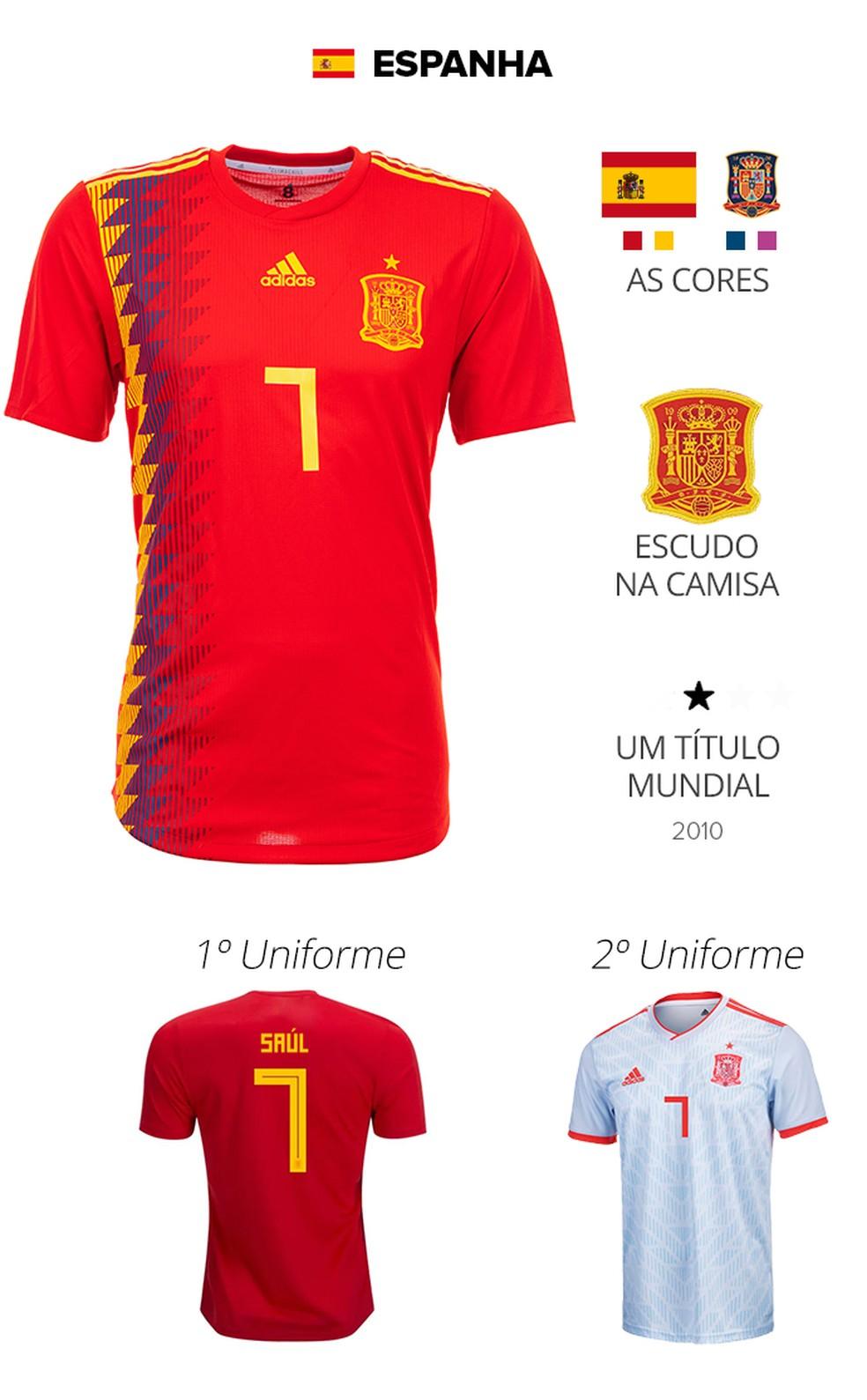 ... na Copa de 94 que leva o amarelo da bandeira para a lateral da camisa.  Diferentemente do azul da última Copa 75c858705281f