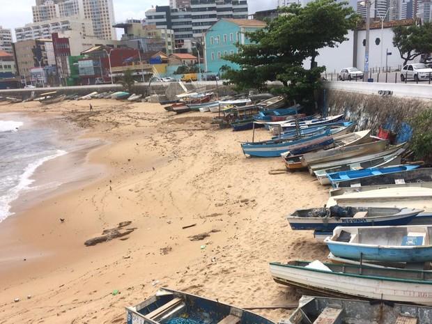 Rescaldo da chuva no Rio Vermelho (Foto: Alan Oliveira/G1)