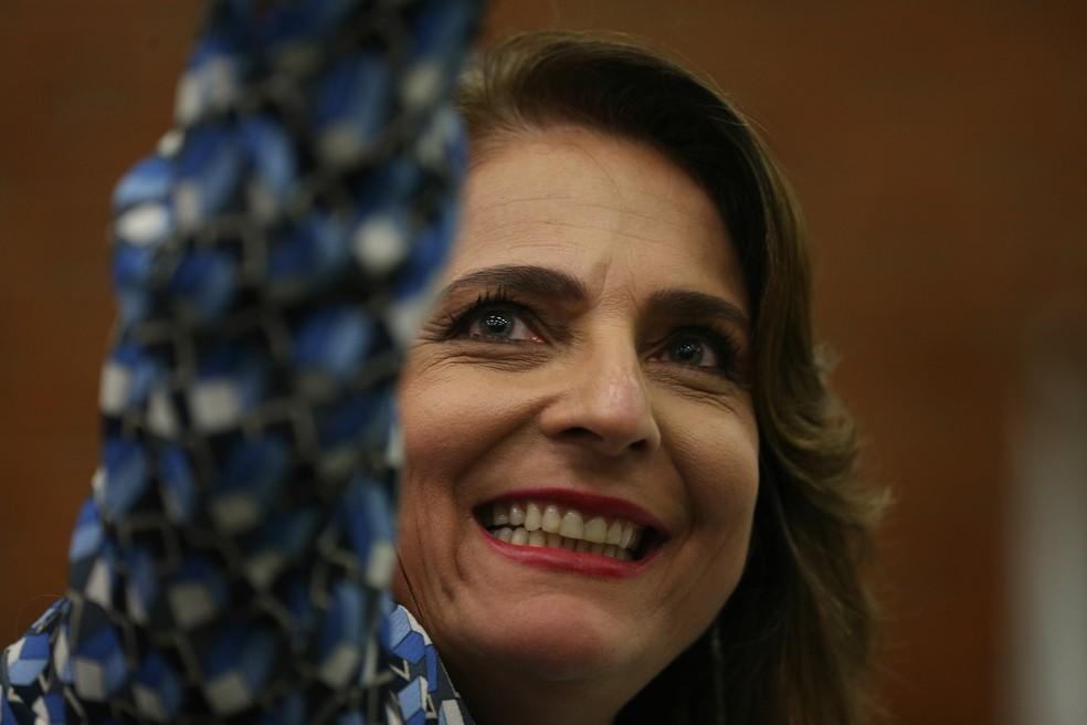 A professora Márcia Abrahão em cerimônia de posse como reitora da Universidade de Brasília (Foto: Fabio Rodrigues Pozzebom/Agência Brasil)