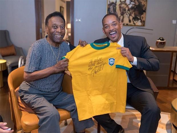 Pelé e Will Smith (Foto: Reprodução/Instagram)