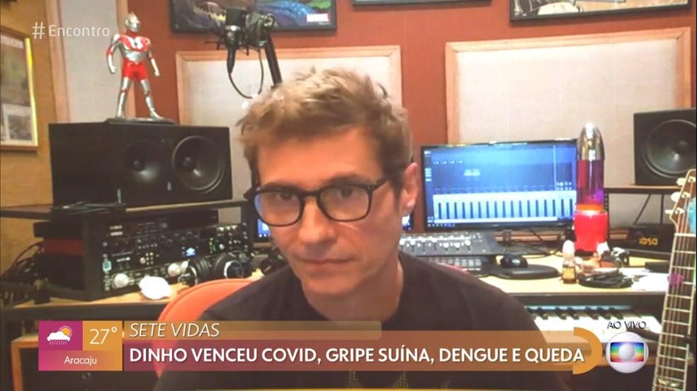 Dinho Ouro Preto fala de sequelas após ter enfrentando a covid-19  Foto: TV Globo