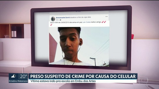 Homem é preso suspeito de matar estudante para roubar celular em Embu das Artes