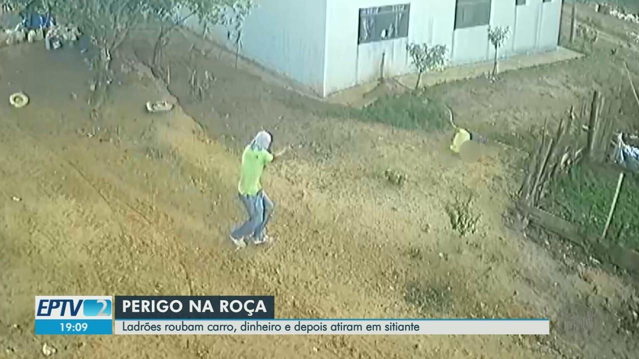 Sitiante é amarrado, agredido e baleado durante assalto em Vista Alegre do Alto