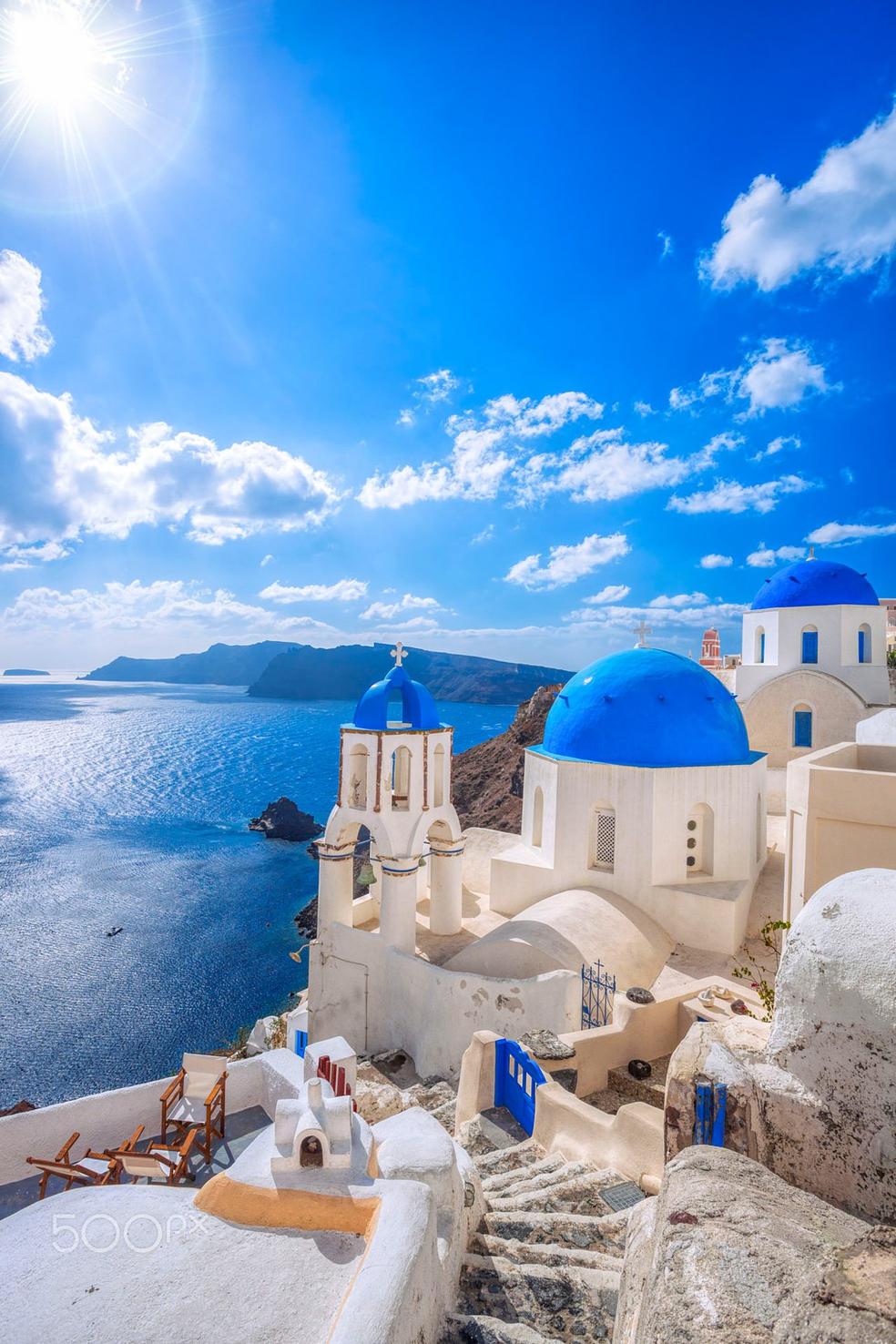 Ilha de Santorini (Foto: Reprodução/Twitter/@TravelSantorini)