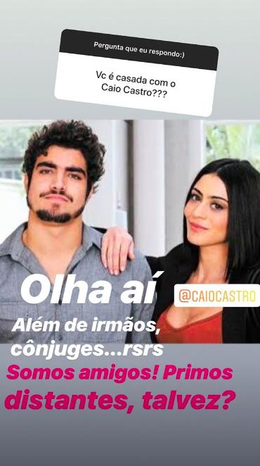 Os Castro, Carol e Caio (Foto: Reprodução / Instagram)