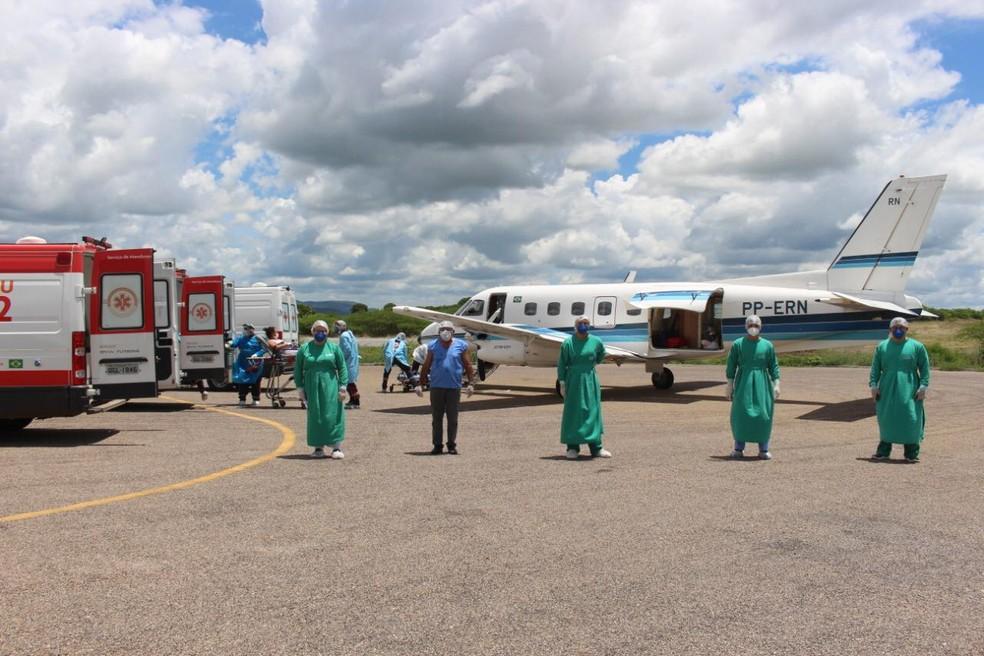 Sesap realizou mais um transporte aéreo de passageiros — Foto: Divulgação