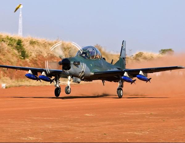 Super Tucano A-29, da Embraer. (Foto: Divulgação/Embraer)