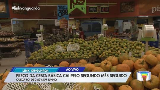 Preço da cesta básica registra 2° mês  de queda na região, aponta Nupes