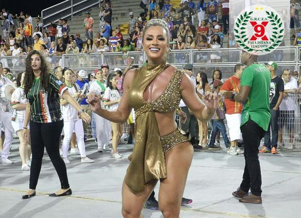 Juju Salimeni - X-9 Paulistana (Foto: Francisco Cepeda/AgNews)