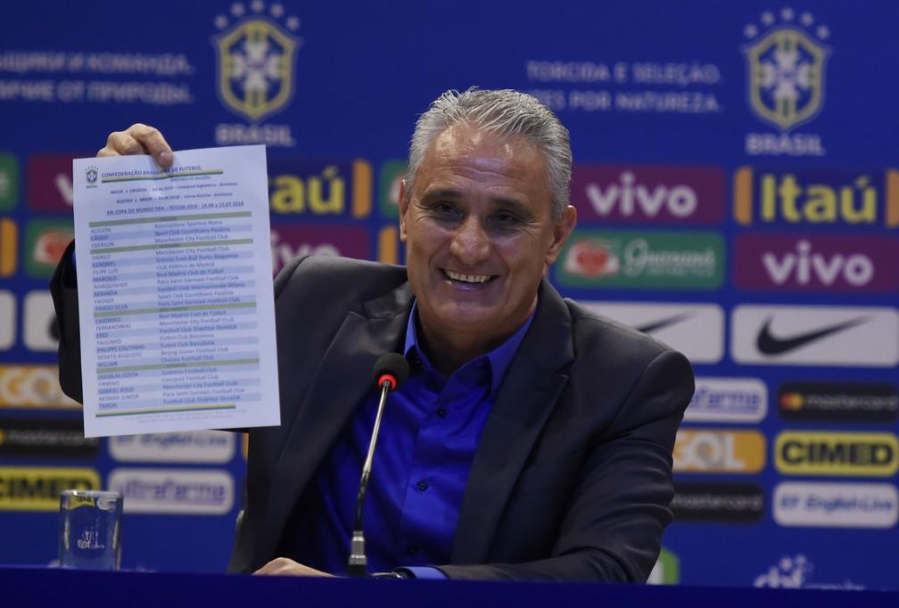 Tite anuncia a lista de convocados da Seleção para a Copa de 2018 (Foto: André Durão)