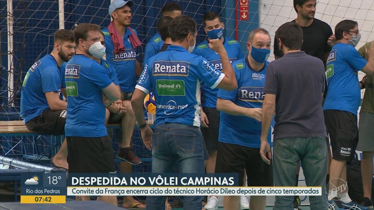 Após cinco temporadas, Horácio Dileo se despede do Vôlei Campinas rumo à França