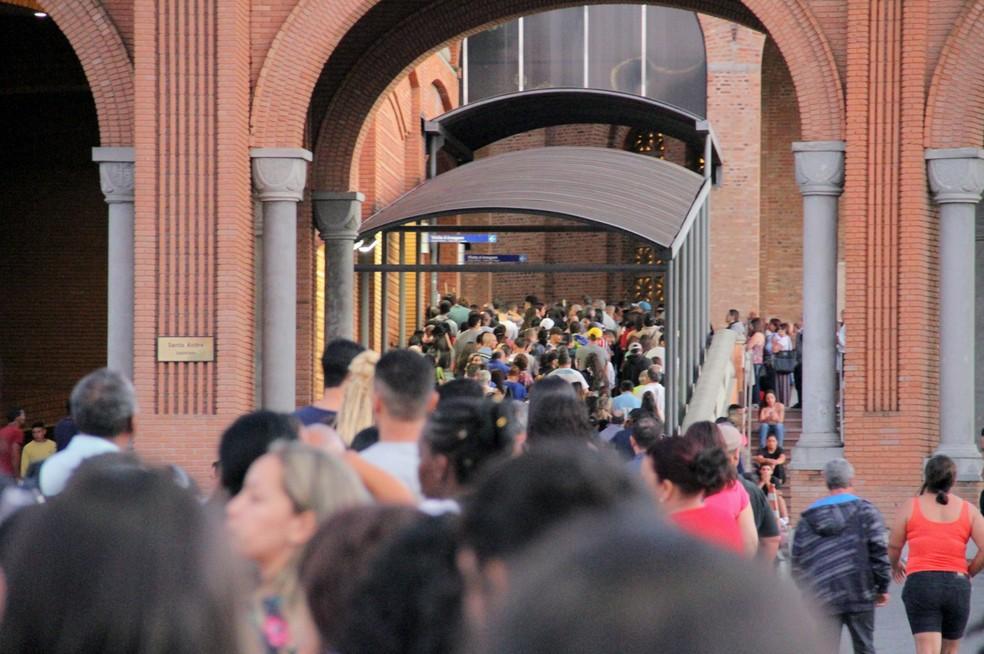Santuário Nacional espera 170 mil romeiros neste sábado — Foto: Carlos Santos/G1