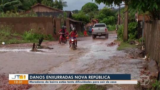 Moradores da Nova República acionam Defesa Civil por causa de fortes enxurradas