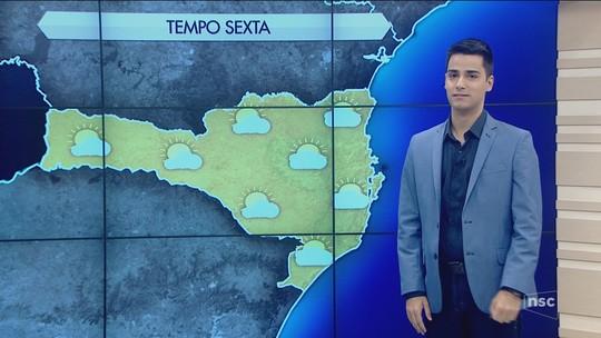 Sexta-feira terá predominância do sol em todas as regiões de SC