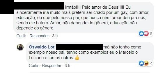 Oswaldo Lot, o ex-Tiozinho, é criticado por post LGBTfóbico na web (Foto: Reprodução)