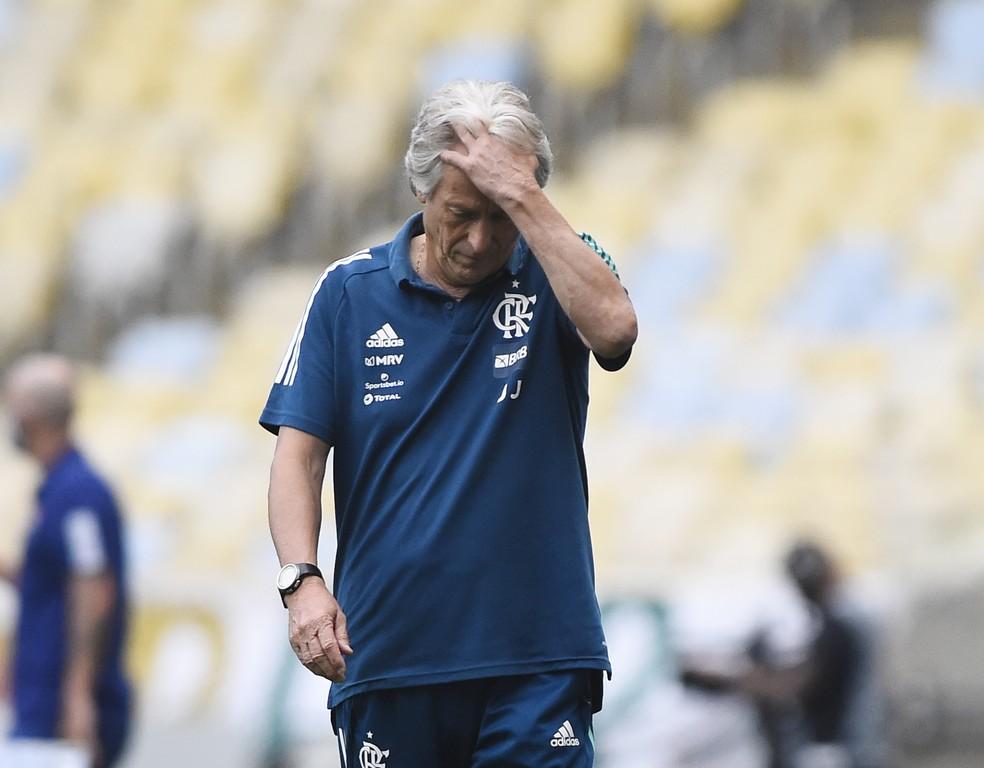 Jorge Jesus está de saída do Flamengo — Foto: André Durão