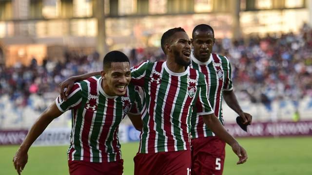 Antofagasta x Fluminense, comemoração Everaldo