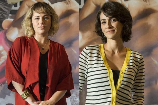 As atrizes Karine Teles e Quitéria Kelly (Foto: TV Globo)