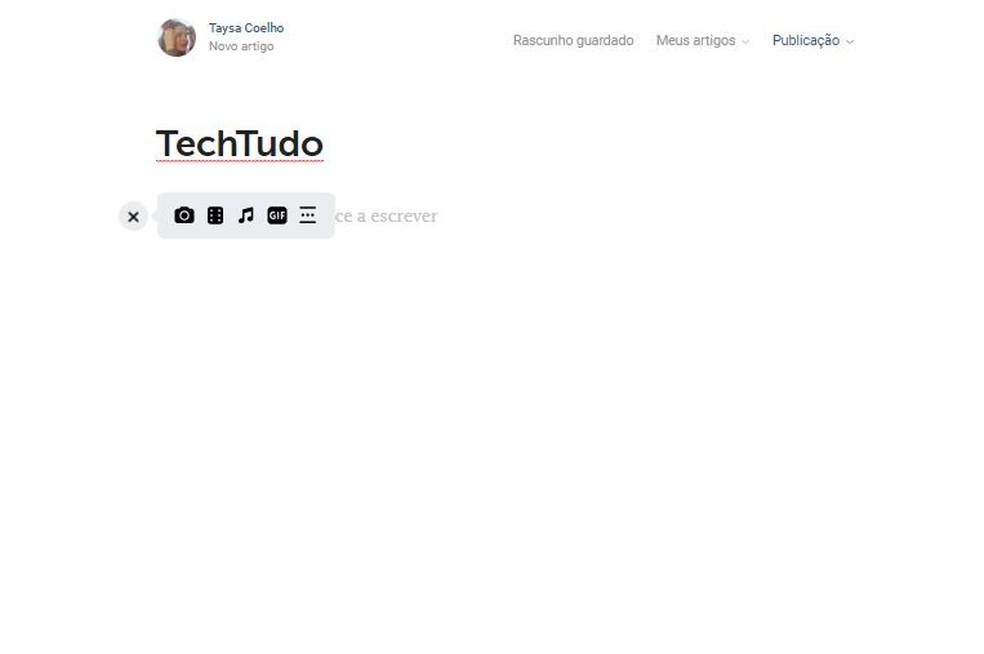 Artigos do VK são uma alternativa à postagem de texto comum — Foto: Reprodução/Taysa Coelho