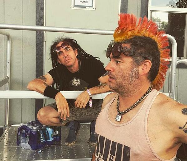 Os músicos do NOFX Fat Miike e Eric Melvin, autores das declarações polêmicas (Foto: Instagram)