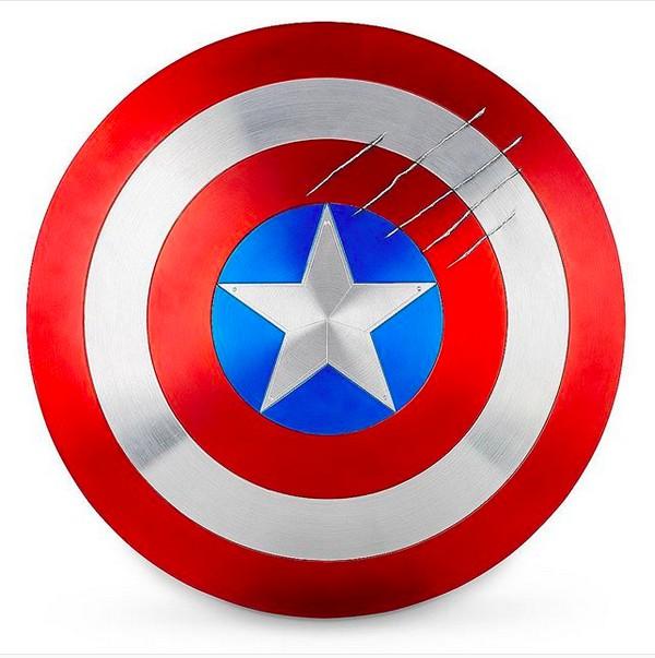 A imagem compartilhada por John Cena mostrando o escudo do herói Capitão América (Foto: Instagram)