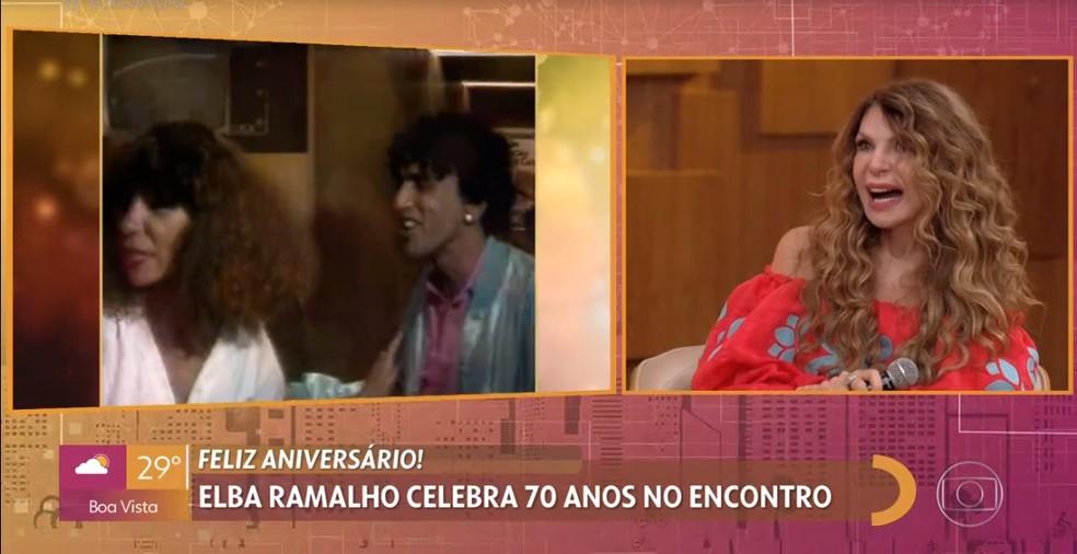 Elba Ramalho ficou impactada com a homenagem do 'Encontro' pelos seus 70 anos — Foto: TV Globo