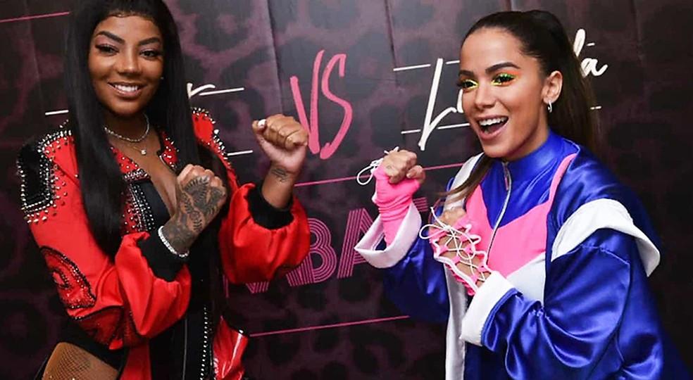 Ludmilla e Anitta — Foto: Leo Franco / AgNews