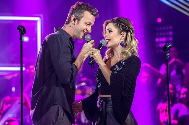 Sandy e o marido, Lucas Lima (Foto: Fábio Rocha/TV Globo)