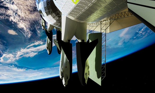 Voyager Station com veículo Dream Chaser