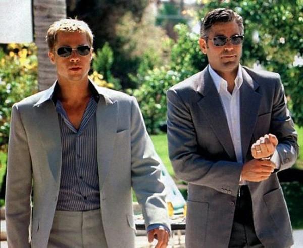 George Clooney e Brad Pitt (Foto: Divulgação)