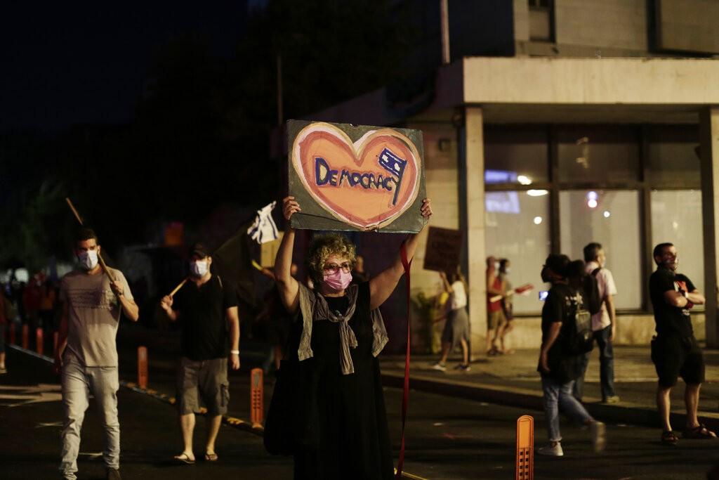 Protesto em Israel pede renúncia de Benjamin Netanyahu