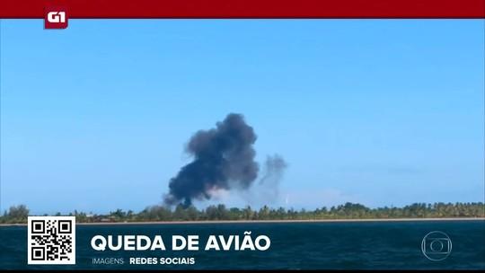 G1 em 1 Minuto: jato executivo cai durante pouso na Bahia