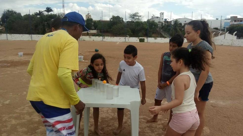 Atividades recreativas são oferecidas no Sesc Pesqueira. — Foto: Acervo/Sesc